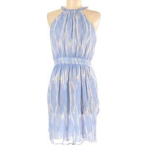 Shoshanna Halter 100% Silk Printed Dress